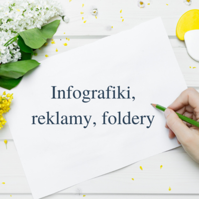 Foldery infografiki reklamy, newslettery